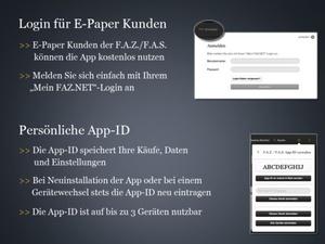 Screenshot F.A.Z. / F.A.S. on iPad