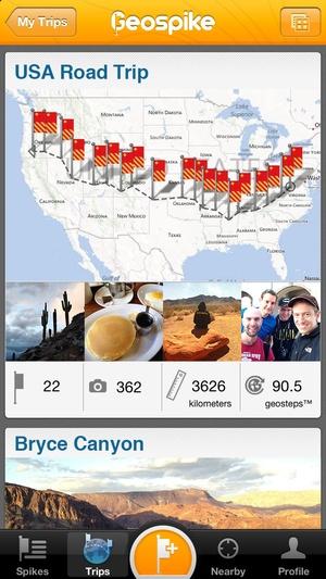 Screenshot Geospike on iPhone