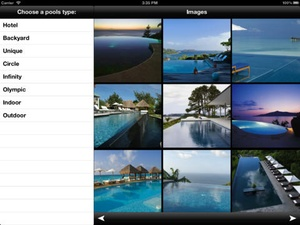 Screenshot Swimming Pools Catalog and Ideas on iPad