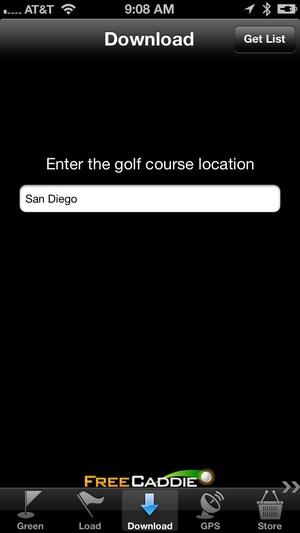 Screenshot FreeCaddie on iPhone