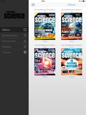 Screenshot Les Mystères de la Science on iPad