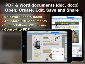 Screenshot iDocs for Office Word Documents & PDF Annotation & Forms on iPad