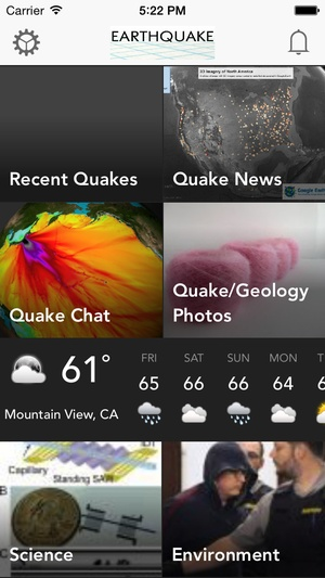 Screenshot Earthquake: International Earth Quake News, Tracker, Alert, Tips, Information, Map & Latest Notifications on iPhone