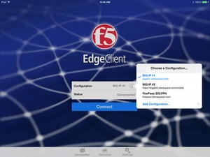 Screenshot F5 BIG on iPad
