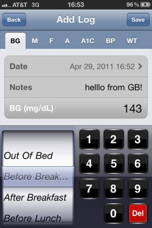Screenshot Glucose Buddy Pro : Diabetes Managing Logbook w/ Blood Pressure & Weight Tracking on iPhone