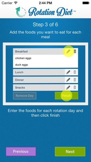 Screenshot Rotation Diet Assistant on iPhone