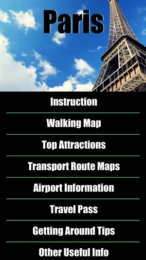 Screenshot Paris Map offline on iPhone