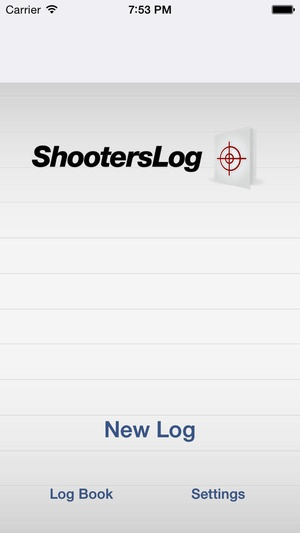 Screenshot Shooters Log on iPhone