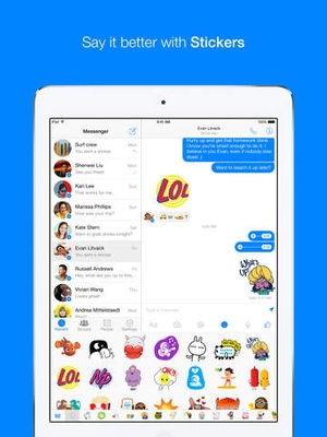 Screenshot Facebook Messenger on iPad
