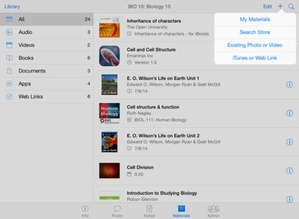 Screenshot iTunes U on iPad