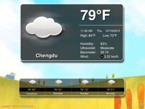 Screenshot Animation Weather Free on iPad