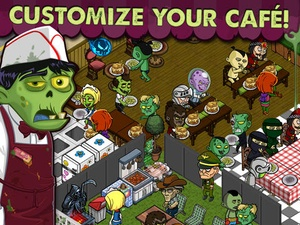 Screenshot Zombie Café on iPad