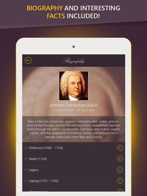 Screenshot Bach on iPad