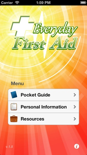 Screenshot Everyday First Aid on iPhone