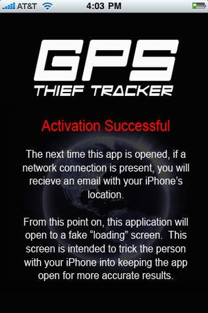 Screenshot GPS Thief Tracker on iPhone