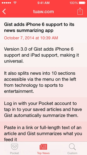 Screenshot Gist on iPhone