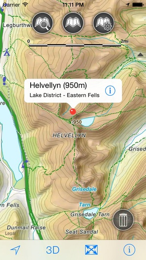 Screenshot Lake District Maps Offline on iPhone