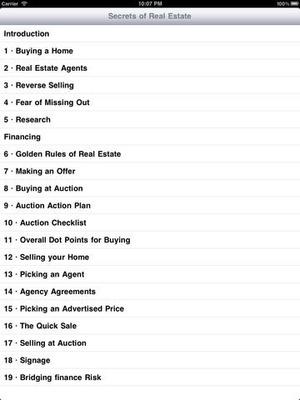 Screenshot Secrets of Real Estate on iPad
