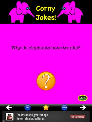 Screenshot Best Corny Jokes! Silly, Funny & Clean Joke Book for Kids and Adults FREE! on iPad