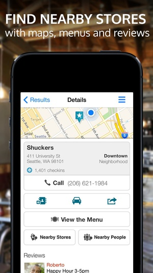 Screenshot Whitepages on iPhone