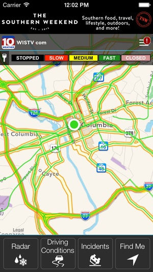 Screenshot WIS News 10 FirstAlert Weather on iPhone