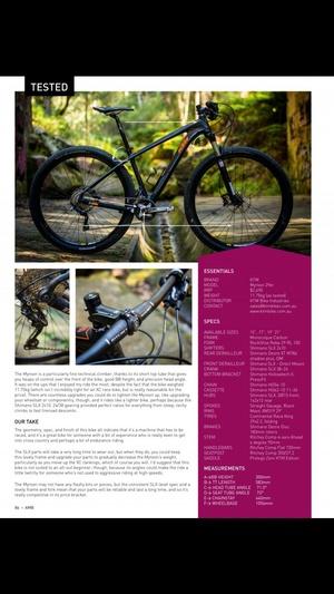 Screenshot Australian Mountain Bike Mag on iPhone