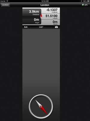 Screenshot GPS Compass Lite on iPad