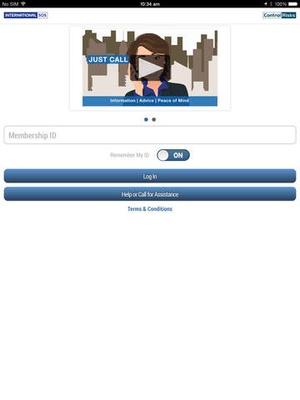 Screenshot International SOS Assistance App on iPad