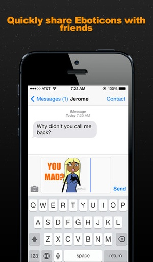 Screenshot Eboticon Emojis on iPhone