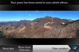Screenshot Pano on iPhone