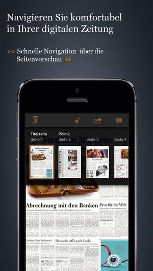 Screenshot F.A.Z. / F.A.S. on iPhone