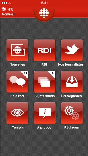 Screenshot Radio on iPhone
