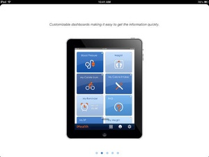 Screenshot iHealth MyVitals on iPad