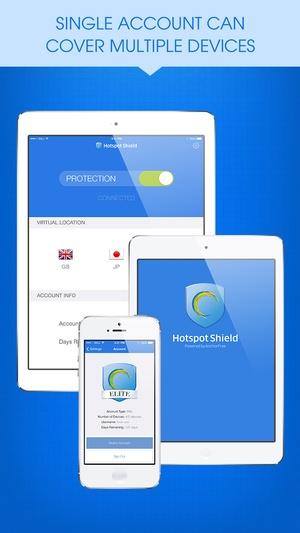 Screenshot Hotspot Shield VPN on iPhone