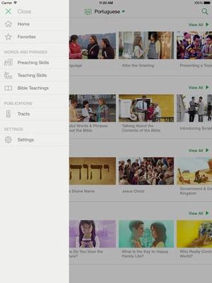 Screenshot JW Language on iPad