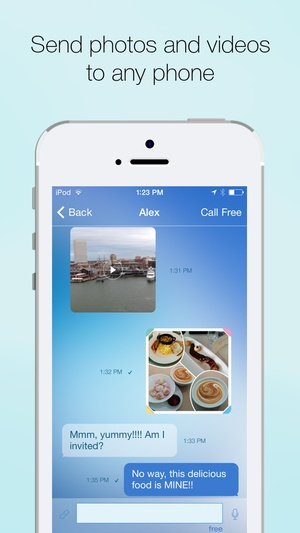 Screenshot Free Calling and Free Texting App, Cheap International Phone Calls and Messenger for iPhone, iPod and iPad by Voxofon on iPhone