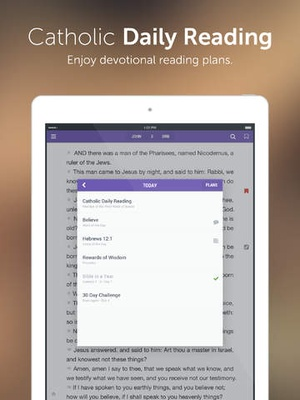 Screenshot Catholic Bible on iPad