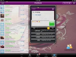 Screenshot iTim Text MMS Messenger on iPad
