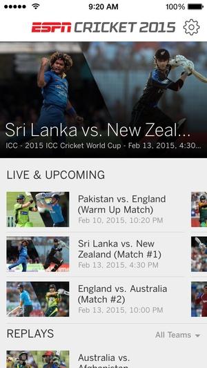 Screenshot ESPN Cricket 2015 on iPhone
