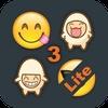 Emoji 3 Emoticons for LINE, Kik, WeChat, Twitter, BBM, Zoosk & Facebook Messenger