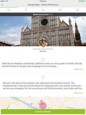 Screenshot Homestay.com on iPad