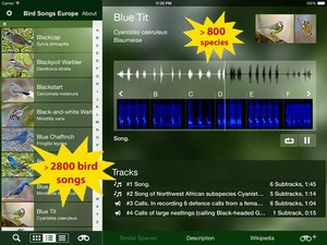Screenshot BIRD SONGS of Europe, North Africa and the Middle East on iPad