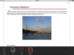 Screenshot Toronto Travel Guide with Offline City Street and Metro Maps on iPad