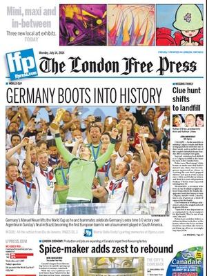 Screenshot London Free Press eEdition on iPad