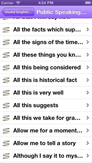Screenshot 15500 Useful English Phrases Business edition on iPhone