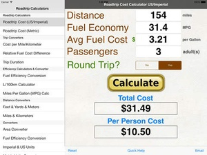 road trip expense calculator