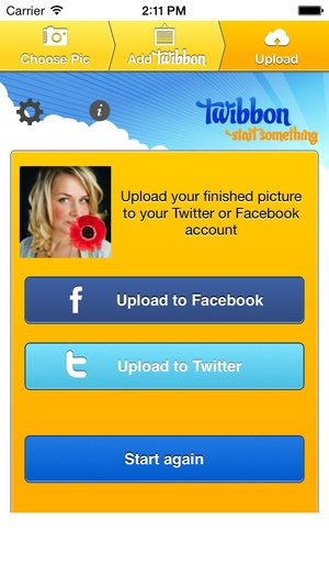Screenshot Twibbon on iPhone