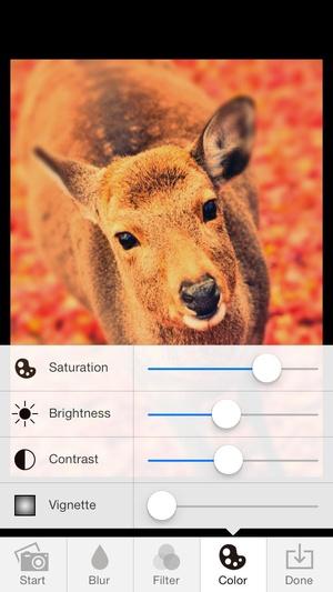 Screenshot TiltShiftGen2 on iPhone