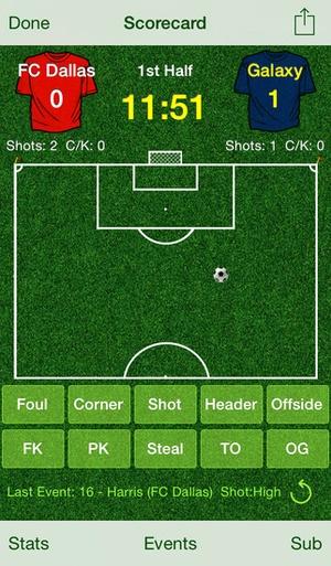 Screenshot Score Soccer on iPhone