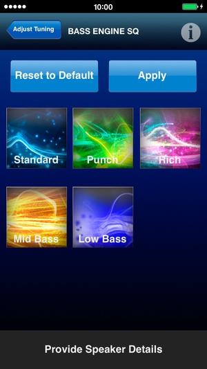 Screenshot Alpine TuneIt App with TTS on iPhone
